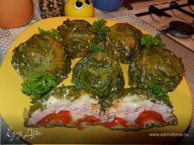 Ветчино-овощная закуска-омлет