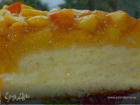 Торт бисквитный с манго и нектаринами