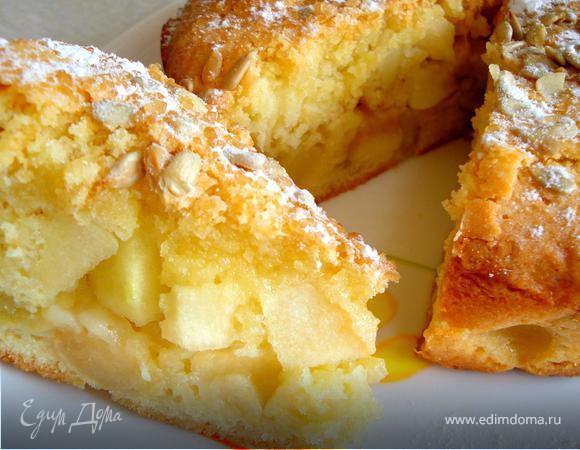 Воскресный яблочный пирог с семечками