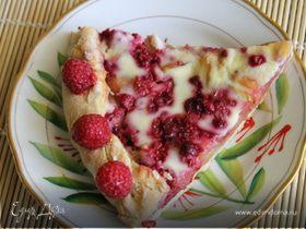 Яблочно-малиновый пирог на имбирном тесте