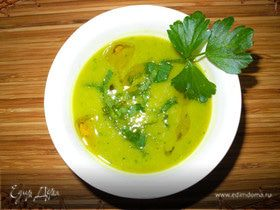 Суп-пюре из тыквы и горошка