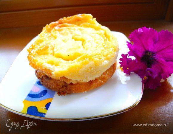 Пирожные творожные с португальским заварным кремом