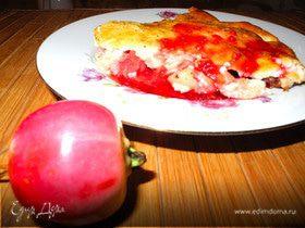 Творожная шарлотка с райскими яблочками