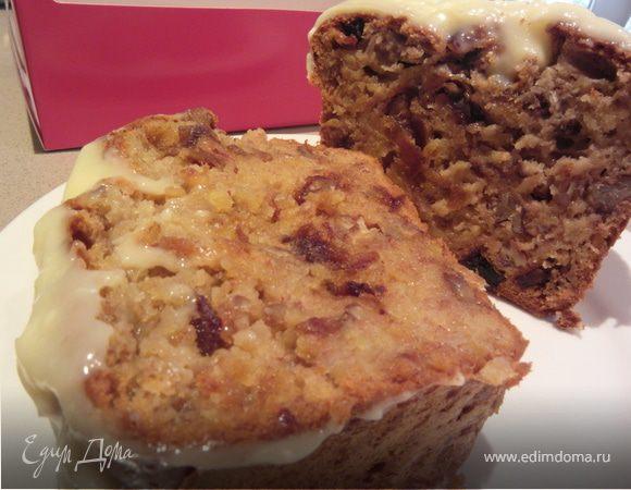 Банановый пирог-хлеб с финиками и орехами пекан