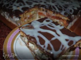 """Торт """" Орехово - фруктовая мечта"""" под шоколадом"""