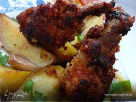 Куриные крылышки с картофелем.
