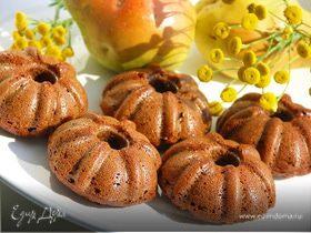 Ржаные манники с грушами и яблоками