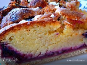 Пирог слива и франжипан
