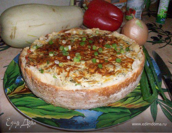 Открытый пирог с кабачками