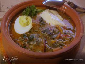 Обед столяра (первое). Зеленый суп без мяса