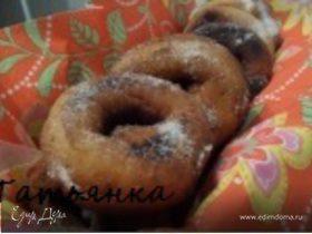 Пончики на сгущенке, пышненькие:)
