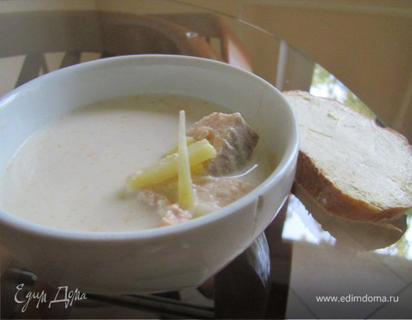 Молочный рыбный суп