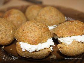 Заварные мини-булочки с творожной начинкой