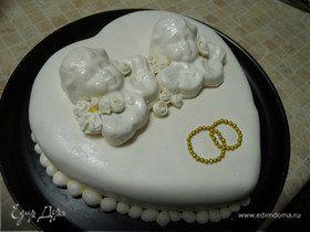 """Почти свадебный торт """"Совет да любовь"""""""