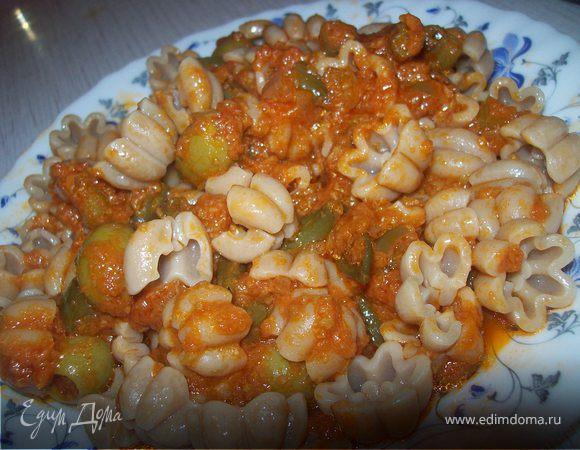 Паста с томатным соусом по - мексикански
