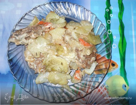 Свиная шея с картофелем
