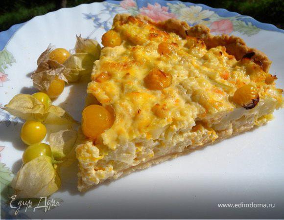 Тарт с цветной капустой и фезалисом
