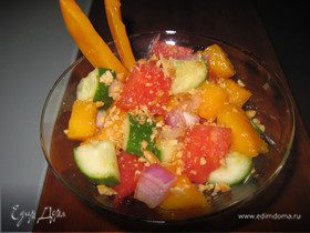 Салат-коктейль с манго