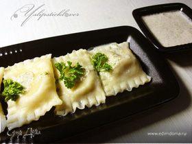 Равиоли с сыром и фундуком