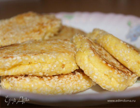 Лимонные сырники в кунжутной панировке