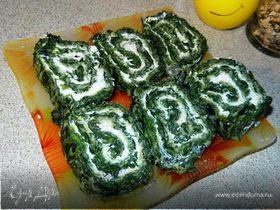 Омлет из зелени с мягким сыром