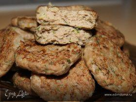 Мясные котлетки с картофелем и укропом