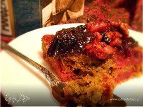 Свекольный кекс с черносливом и орехами