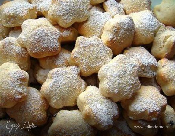 Песочное ванильное печенье.