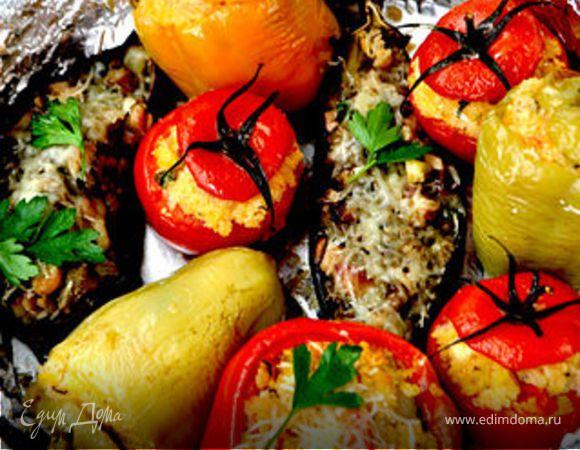 Фаршированные овощи-ассорти.