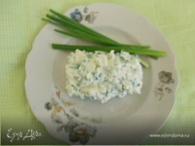 Закуска из зелёного лука и творога