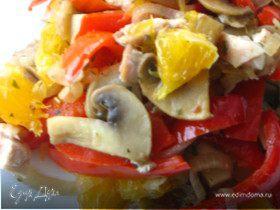 Теплый салат в средиземноморском стиле