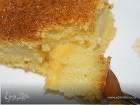 Кукурузный пирог в три прослойки