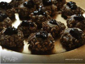 Печенье с белым шоколадом и джемом