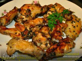 Куриные крылышки глазированные кленовым сиропом