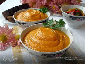 Морковный суп-пюре с мёдом, имбирём и чили