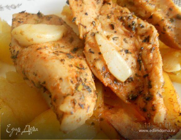 Куриные грудки в остром соевом соусе