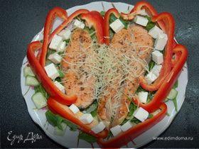 салат из сердца с гранатом пошаговый рецепт