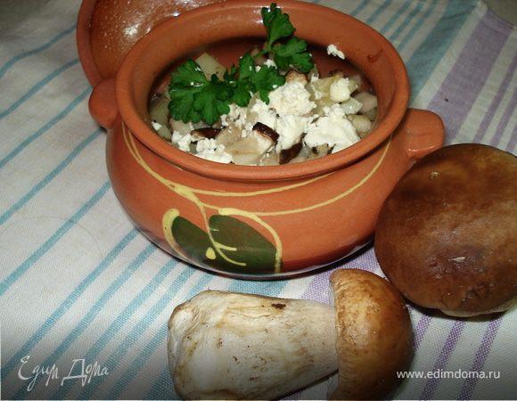 Жаркое с белыми грибами