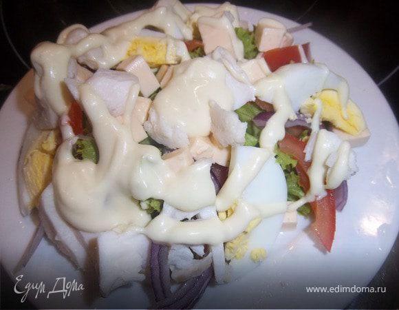 Салат с щукой