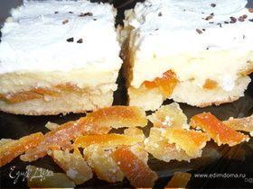 Лимонный пирог с цукатами из цитрусовых