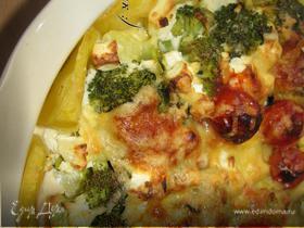 Картофельная запеканочка с брокколи и сыром