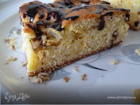 Пирог с грушами и шоколадом(кукурузный)