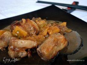 Кисло-сладкие свиные ребрышки по-китайски