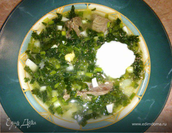 Зеленый борщ - рецепт из детства (повтор)
