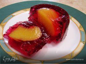 Желе с консервированными персиками (повтор)