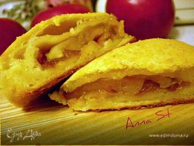 Творожные слойки с яблоками