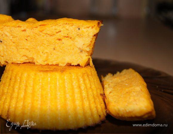 Кукурузные кексы с тыквой и имбирем