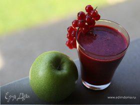 Яблочный сок с ягодами