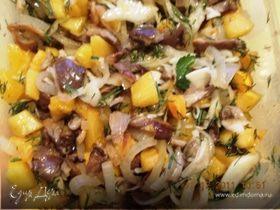 Салат из тыквы с грибами