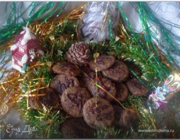 Шоколадное печенье с вишней. Tescoma